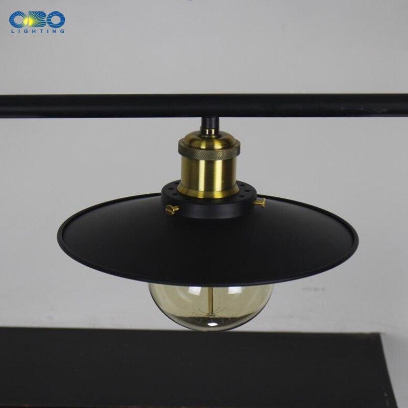 Винтажные железные подвесные лампы с 3 головками, американский бар, подвесные светильники, кофейня, для внутреннего освещения, провод E27, дер... - 6