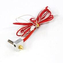 DIY Sıcak Sonu Kiti 0.4mm Memesi 40mm Ekstruder Boğaz 12 V Isıtıcı termistör Için Alüminyum Isıtıcı Blok Anet A6 A3 3D Yazıcı Pa...