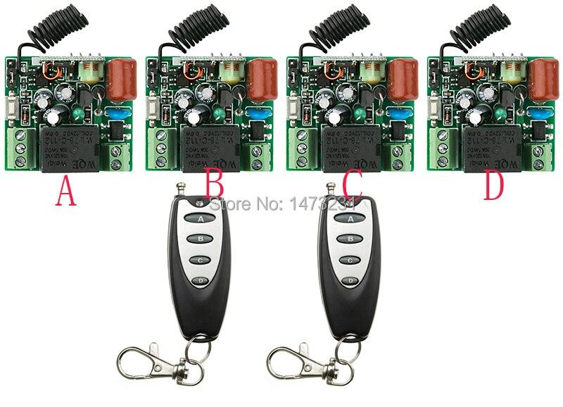 Ventas calientes sistema teleswitch AC220V 1CH 10A interruptor de control remoto
