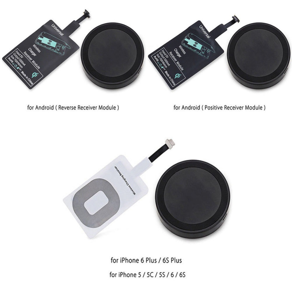 Qi Wireless Charger Adapter Adapter Bluetooth Mini Jack Oneplus 5 Usb C Adapter Kingston M 2 Pcie Adapter: Qi Wireless Charger Pad+Charging Receiver Adapter Module