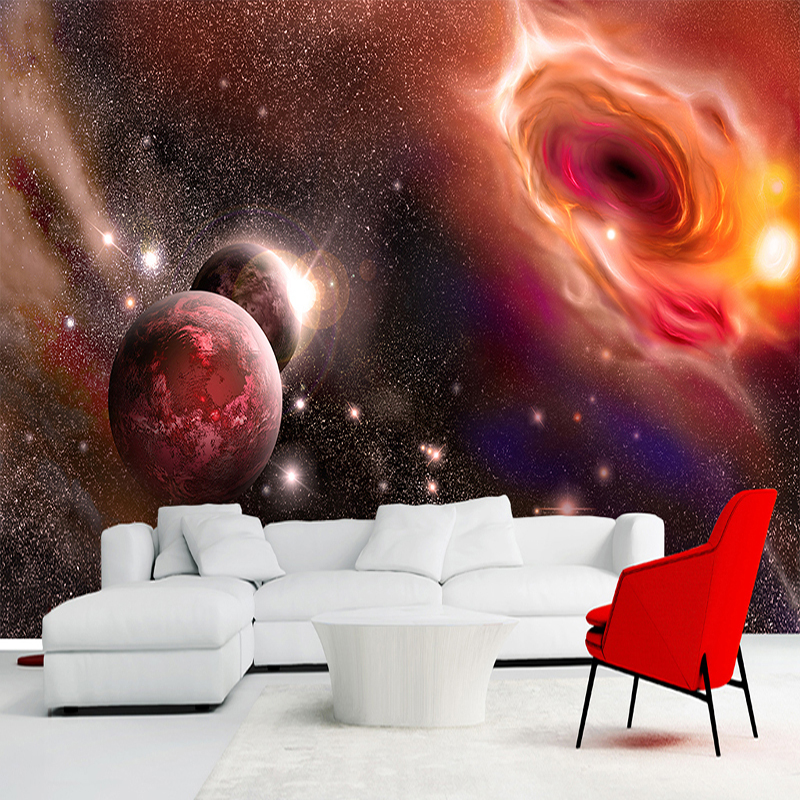 Custom Any Size 3D Photo Wallpaper Beautiful Universe Starry Galaxy Large Mural Wall Painting Wallpapers For Living Room Bedroom book knowledge power channel creative 3d large mural wallpaper 3d bedroom living room tv backdrop painting wallpaper