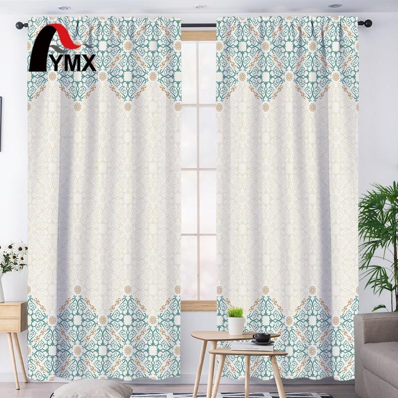 FYMX frais Floral fenêtre rideaux rideaux occultant salon pour chambre 3D imprimé lumière bloquant français rideaux décor à la maison