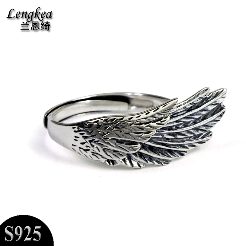 Free shipping,925 silver opening ring pinky ring girls/boys thai ...