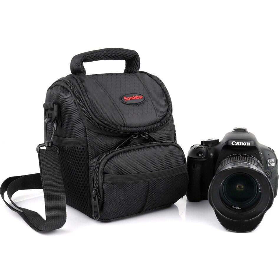 DSLR Camera Bag Case Pour Canon EOS 100D 200D 750D 800D 1200D 1300D M10 M6 M5 M100 18/55mm Lentille Nikon D3400 D3200 D40 Caméra Sac