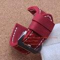 Reemplazo de la correa Del Reloj venda de reloj de la correa Roja caliente Hecho A Mano suave 26mm Pulsera De Cuero De Becerro De marca relojes Entrega Rápida