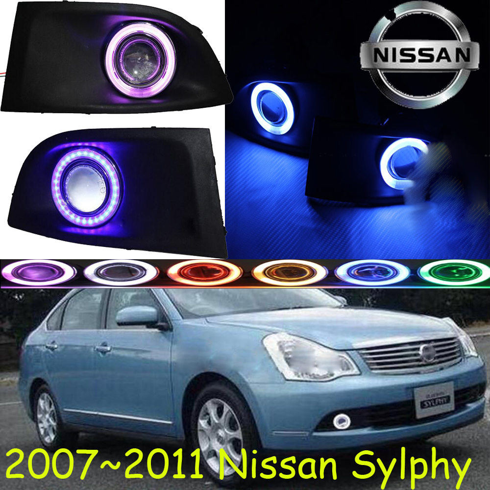 ФОТО Sylphy fog light 2006~2011 Free ship!Sylphy daytime light,2ps/set+wire ON/OFF:Halogen/HID XENON+Ballast,Sylphy