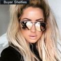 Luxury Cat Eye Sunglasses Women Brand Designer Points Sun Glasses Women Female Ladies Sunglasses Vintage Mirror Aviator Sunglass