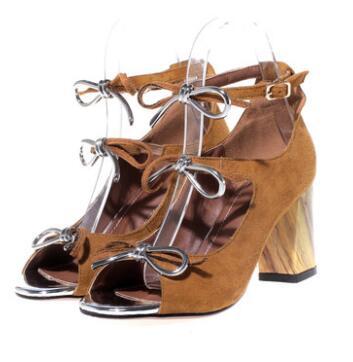 Newest Design 2017 Women Summer Hand Made Hollow out sandals High Heels Fashion Shoes trendy women s sandals with hollow out and platform design