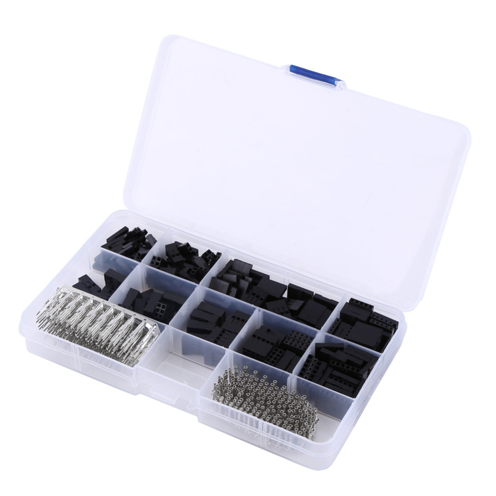 1 Box of 610Pcs 2 54MM Housing Connector Kit Female Male Terminal Jumper Wire Crimp Pin