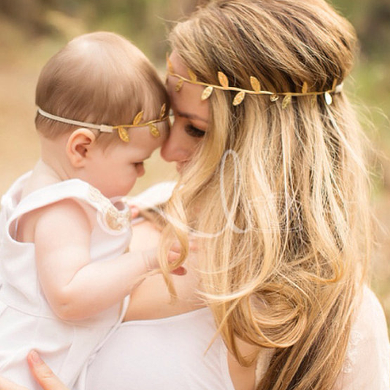 Sale 1PC Baby Girl & Women Leaf Headband Fashion Hairbands Parent-child headdress Photography Props Accessories