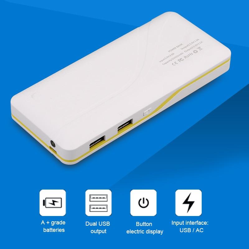 imágenes para Tamaño Portable Recorrido Al Aire Libre fuente de Alimentación Para Teléfonos Móviles Banco de la Energía Externa 7500 mAh Cargador Dual USB Para El Iphone