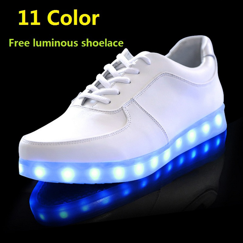 Men's Casual Shoes Colorful Adult Led Lights Usb Charging Colorful Shoes Mesh Mens Models Luminous Shoes Shoes High Safety