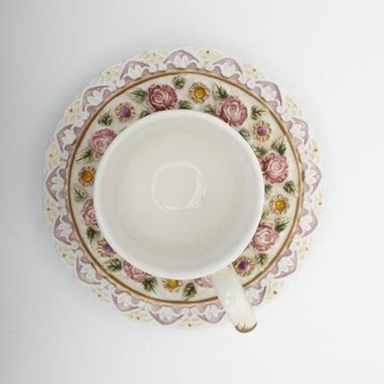 Belle personnalité jardin tasse créative après-midi thé rose thé tasse café tasse fruits jus tasse cadeau - 2