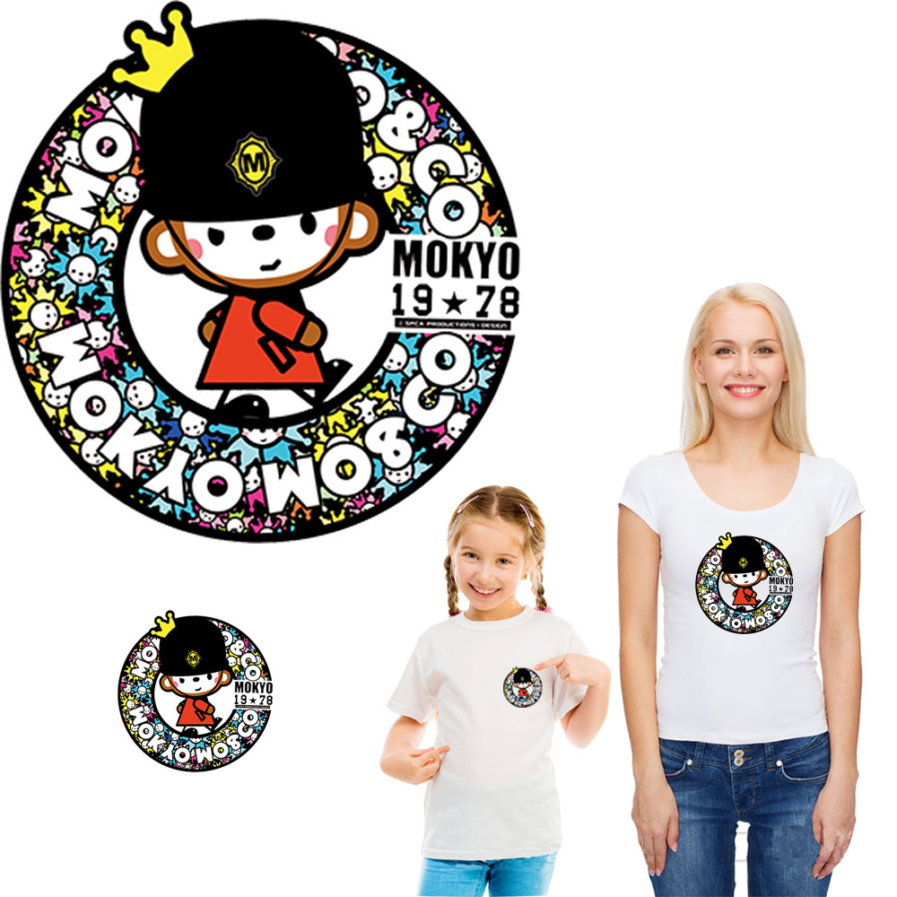crown bape iron patches for clothing transfert thermocollants t-shirt thermo sticker kid girl women diy clothes parches ropa