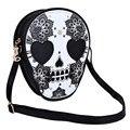 Skull Floral Heart Cat Zipper Head Mini Dual Purposes Shoulder Messenger Bag for Women
