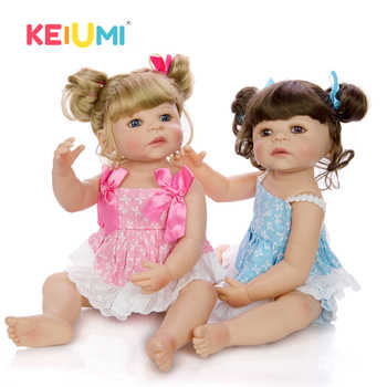 Lifelike 22 Inch Princess Twins Reborn Babies Girl Dolls For kids Playmates 55 cm KEIUMI Newborn Baby Doll New Birthday Gifts - DISCOUNT ITEM  53 OFF Toys & Hobbies