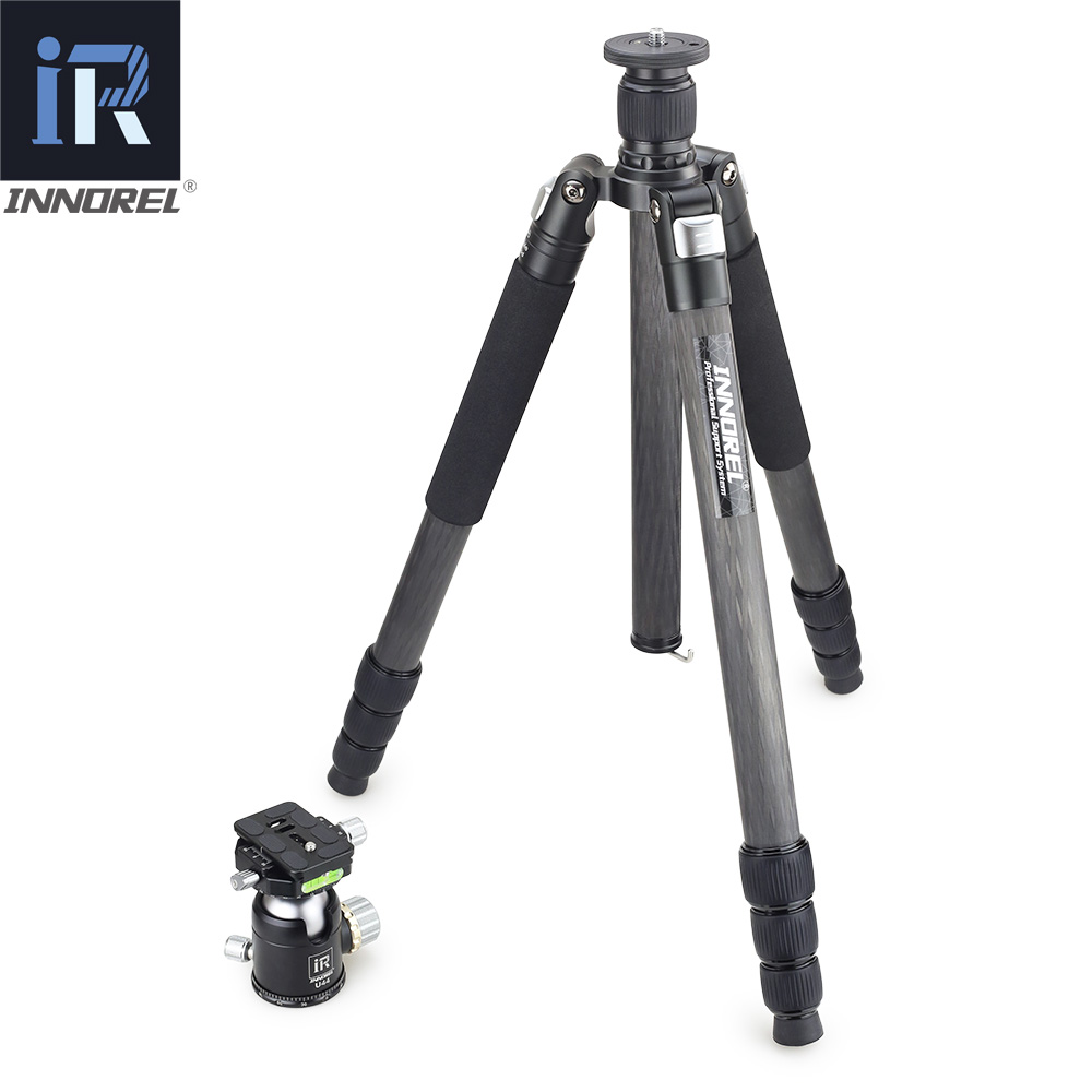 INNOREL RT85C 25 kg orso in fibra di carbonio treppiede per DSLR fotocamera digitale heavy duty Monopiede Professionale doppio panoramic ball head