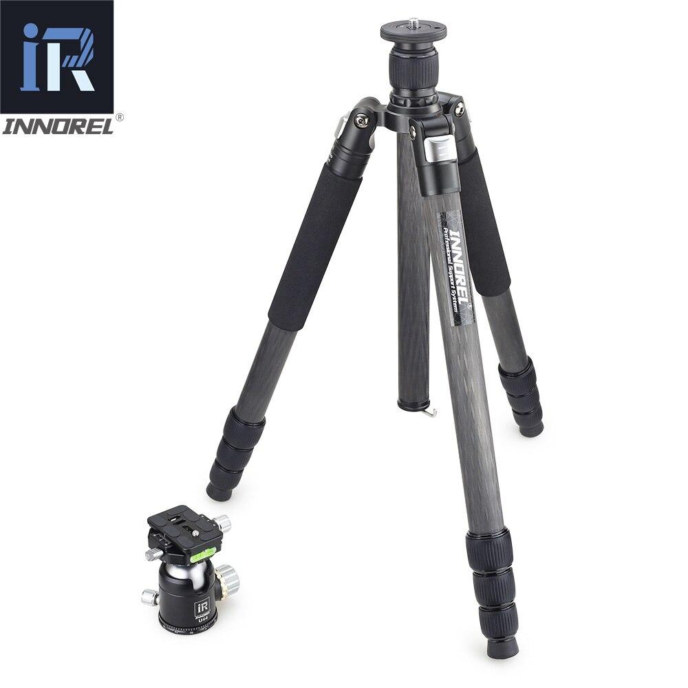 INNOREL RT85C 25 kg ours trépied en fiber de carbone pour appareil photo numérique reflex numérique robuste Monopode Professionnel double panoramique rotule