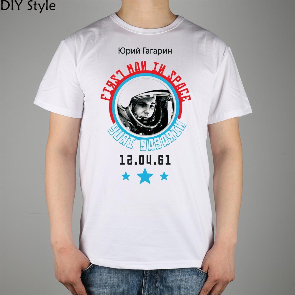 URSS CCCP cosmonaut sovietic Yuri Gagarin T-shirt Top bluzoane de - Imbracaminte barbati