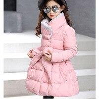 Big Baby Girls Coats Dress Warm Clothes Cotton Padded Long Jacket Kids Girl Winter 2017 New