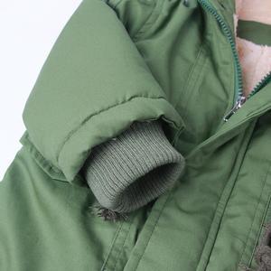 Image 4 - ボーイズ冬のジャケット十代子羊カシミヤウインドブレーカー赤ちゃんカジュアル服子供トップス 2 9 T 厚みのフード付きベルベットジャケットコート