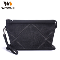 Wmnuo Men Handbags Genuine Leather Envelope Chinese Brand Grind Arenaceous Cow Leather Day Clutches Fashion Large
