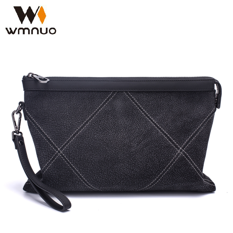 0946d05e17851 Buy wmnuo men handbags genuine leather envelope chinese brand grind  arenaceous cow leather day clutches fashion large capacity bags Cheap Online