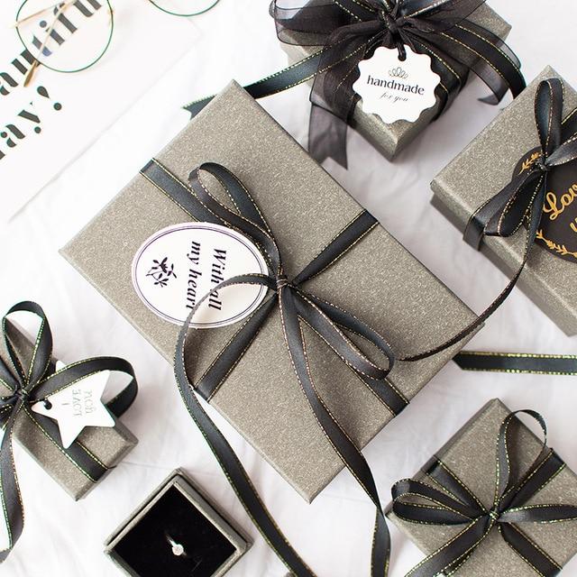 1 pc contenitore di regalo Di Natale di alta qualità Misterioso grigio amato il