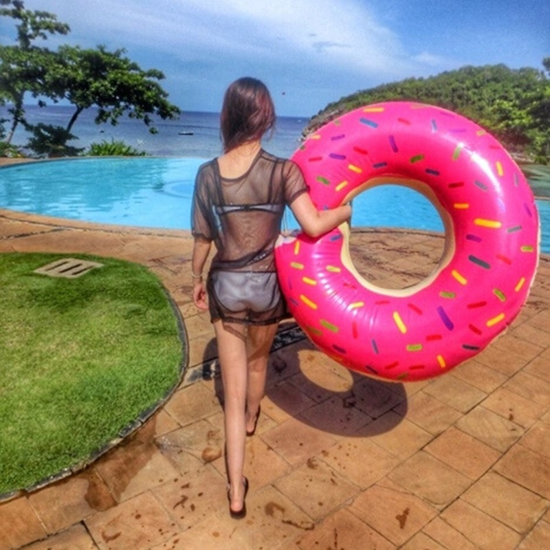 90cm/120cm Sweet Circle Adult Super Large Pool Inflatable Life Buoy Swim Ring ...
