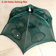 Folded Portable 4/6/8/10/12/16/20 Holes Automatic Fishing Shrimp Trap Fishing Net Fish Shrimp Minnow Crab Baits Cast Mesh Trap