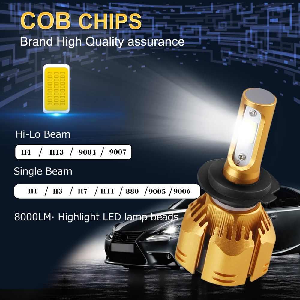 H7 H1 LED H11 H8 H9 9005 9006 880 H3 H4 HB3 HB4 led 9007 9004 H13 Car Headlight Bulb 3000K 4300K 6500K 8000K LEDs Head lamp 12V