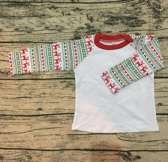0122ce81b25 Wholesale Blank Cotton monogram kid raglan shirt baby toddler new christmas  clothes