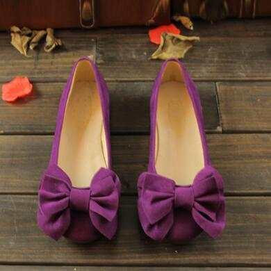 British style Fashion Loafers Women Casual shoes High quality Cow Muscle Flock Bowtie Cozy Woman Flats 01