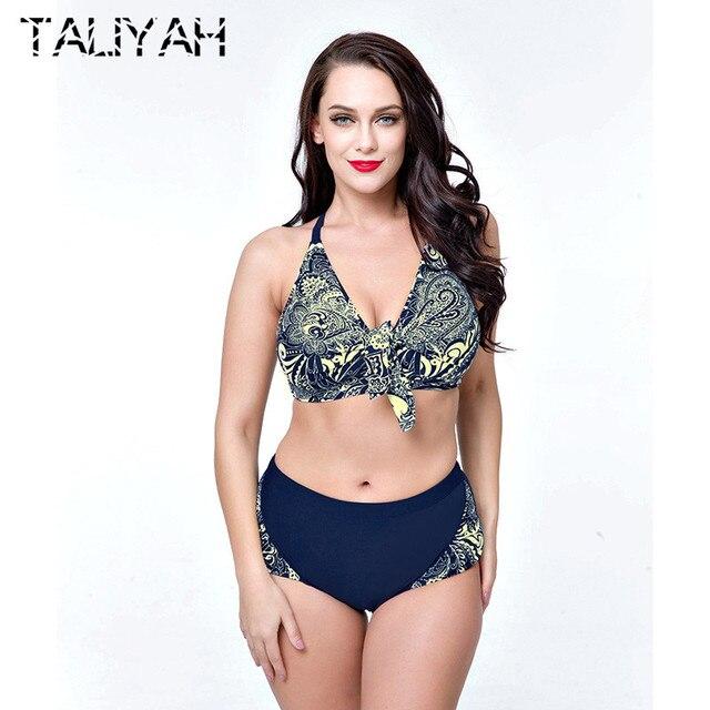 5bcdd2555c Women Bikini 2019 Two Piece Swimwear Plus Size Bikini Set Push UP Large Cup  Swimsuit Women
