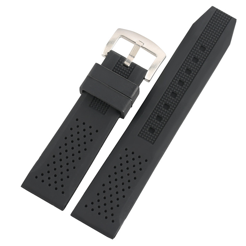 18/20/22/24mm Watch Band Waterproof Military Black Soft Silicone Pin Buckle Diving Strap Men Watches Replacement Bracelet Sport high quality 20 22 24mm military nylon army green soft belt bracelet replacement pin buckle sport outdoor watch strap band