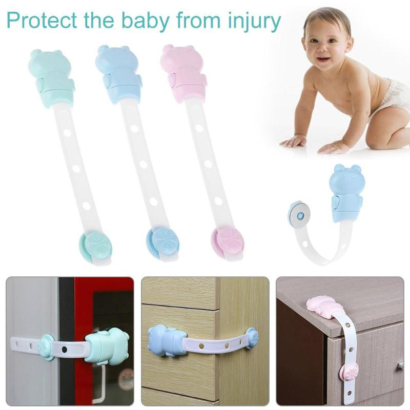 3 gear Adjustable Drawer Door Cabinet Cupboard Toilet Safety Locks Baby Kids Safety Care Straps Infant Baby Protection Latch