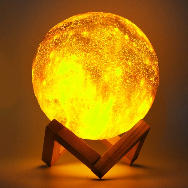 Dropship 15CM Moon Lamp 3D Print Star Galaxy Light Colorful Change Touch USB Charging Led Home Decoration Baby Night Lights Gift 3