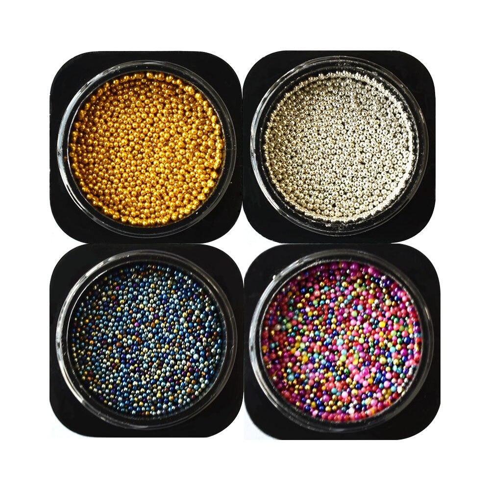 0.6mm colorful 0.8mm colorido micro grânulo strass para unhas design strass 3d caviar grânulos decorações da arte do prego mjz2092