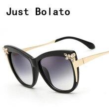 Verdadero diseñador de la marca mujeres gafas de sol retro cat eye sunglass uv400 feminino revestimiento polarizado gafas de sol hombre con cristal