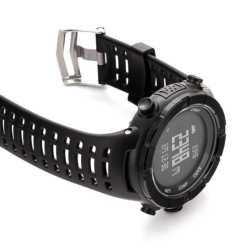 Prix pour D'origine ezon h001 sport montre bracelet en caoutchouc de silicone 240mm x 22mm noir