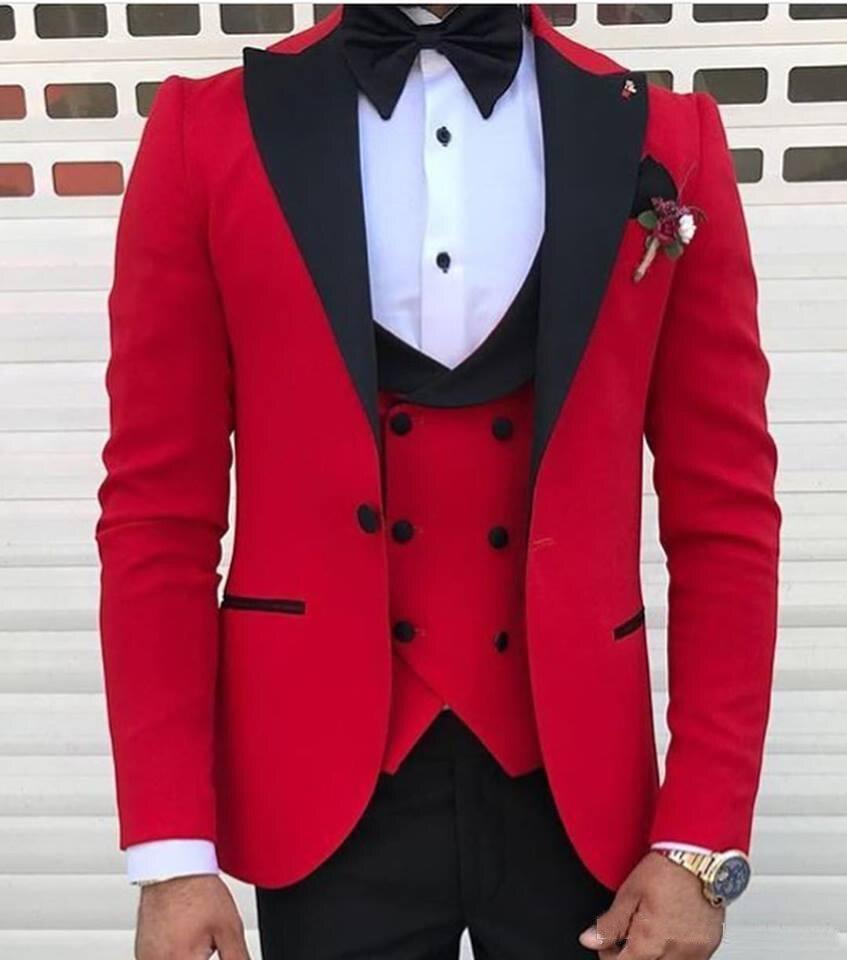 Черные смокинги жениха на одной пуговице с узором пейсли, шаль с отворотом для жениха, лучшие мужские костюмы, мужские свадебные костюмы(пиджак+ брюки+ жилет+ галстук