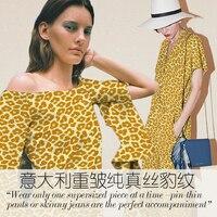 تجعد 25 ملليمتر الحرير الثقيل النسيج ليوبارد طباعة الحرير نسيج لفستان نسيج الحرير الطبيعي بالجملة الحرير القماش