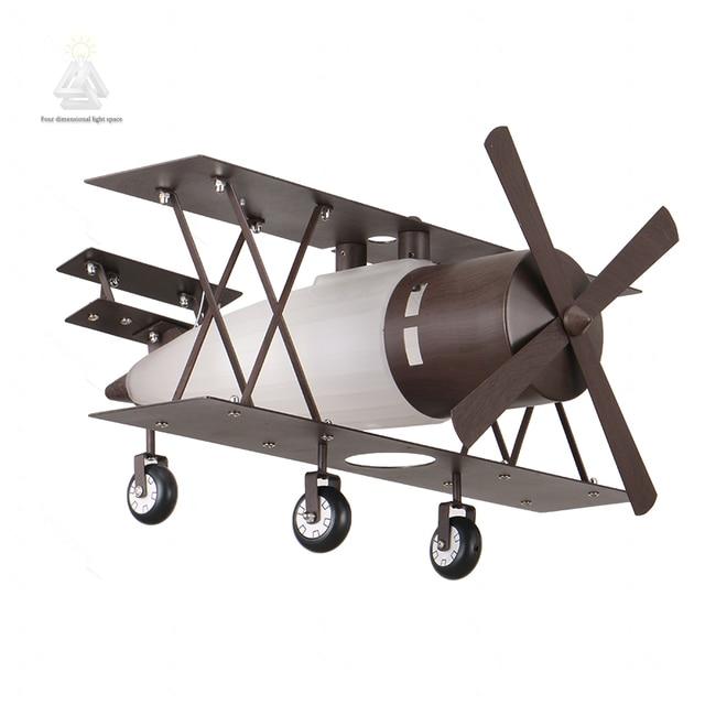 industrià le loft vliegtuigen kinderen hanglamp kids slaapkamer