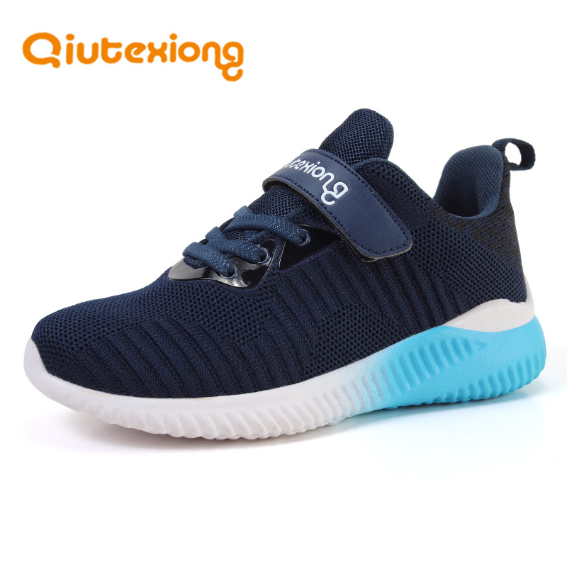 QIUTEXIONG Mesh Children Shoes For Kids Sneaker Boys Shoes Girls Casual Shoes Sport Trainer Running Footwear FlyKnit flexible forudesigns kids sport shoes boys girls for children walking cycling running nebula pringting lace up sneaker shoes outdoor