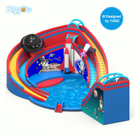 New Design 0.55 mm PVC Giant Inflatable Water Park Inflatable Slide Kids Toys slide For Sale With Free Blower