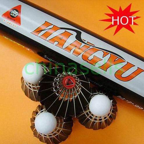 25 Tube Подлинная Hangyu № 4 Бадминтон Воланы черный Гусь прочный Волан для бадминтона ball