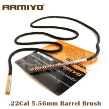 Armiyo Gun Boring Borstel. 22Cal 5.56mm Airsoft Rifle Barrel Cleaning Kit Jacht Schieten Accessoires Schroefdraad Size 8-32 m4(China)