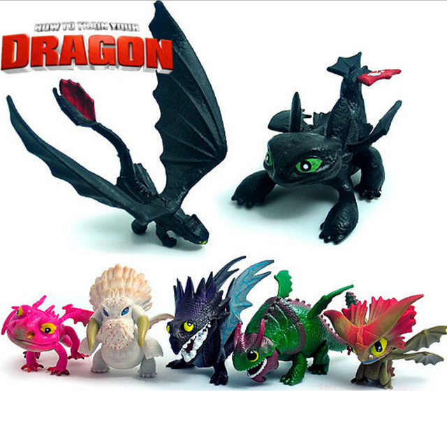 7 Pcs/set High Quality How To Train Your Dragon Toys