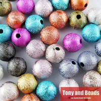 Free Shipping Mixed Stardust Acrylic Round Ball Spacer Beads Charms Findings 4 6 8 10 12