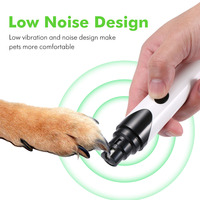 Electric Dog Cat Paw Nail Grinder Cutter File Kit USB Rechargeable Nails Clipper Scissors Pet Grooming